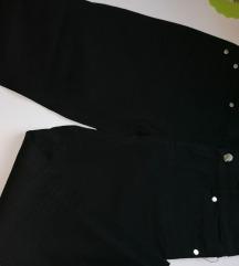 Črne 3/4 hlače S