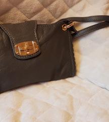 Usnjena siva torbica
