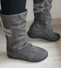 Udobni ženski polškornji, sivi, 37, enkrat obuti