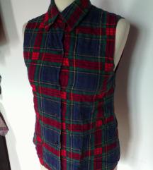 ženska karirasta modna srajica,XS/S