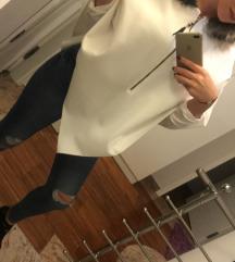 Bel poncho s kapuco/univerzalna velikost
