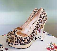 Tigrasti čevlji z visoko peto