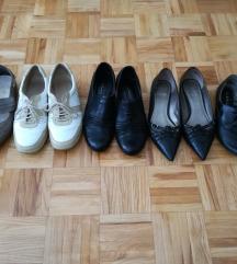 Ženski čevlji vel. 37 usnjeni 5 parov