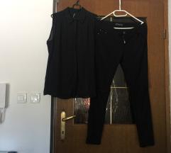 UGODNO Komplet bluzica in elasticne hlace