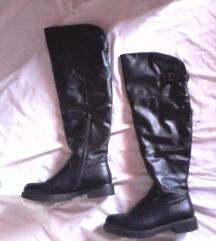 overknee usnjeni škornji nad koleni,črni,40