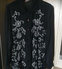 Črna bluza z vzorci