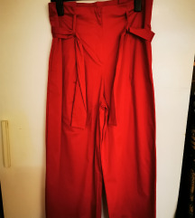 Rdeče široke hlače