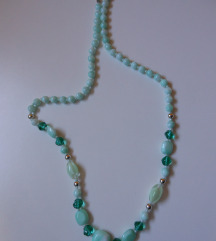 Vintage zelena ogrlica (s ptt)