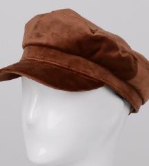 H&m Žametna temno rjava kapa