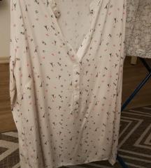 Bela bluza z vzorcem