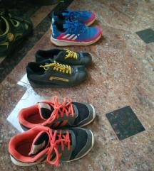 32, 33 obutev, čevlji, teniski adidas 3€/kom