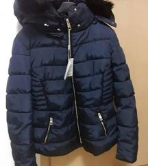 Nova temno modra bunda, kopija Zarine, velikost M