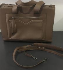 rjava ženska velika torbica