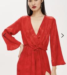 Nova midi rdeča obleka