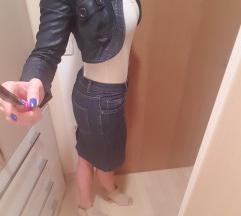 Jeans krilo in bolero jaknica