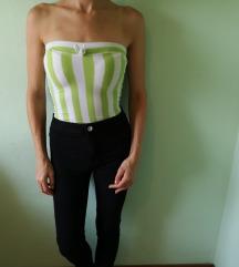 Vintage retro zeleno bel top