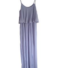 Dolga svetlo-vijolična obleka