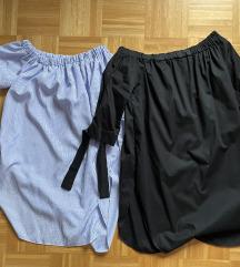 Modro bela in črna srajca