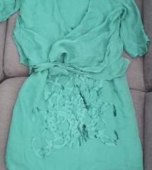 Obleka+bolero,prava svila,vel.38