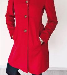 Ženski plašč, rdeč