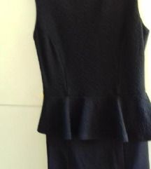 Nova črna peplum oblekca