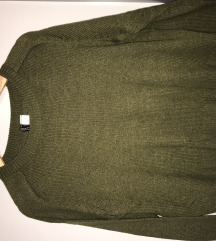 Olivno zelen (pleten) pulover