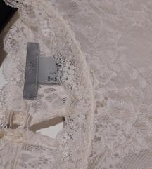 H&M bela čipkasta majčka