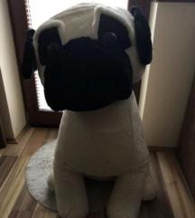 Plišat pes PUG 80cm AKCIJA 20€!!!