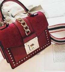 Modna torbica rdeča