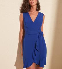 Modra svečana poletna oblekica