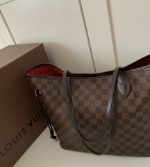 REZ Louis Vuitton Neverfull MM damier ebene