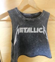 Metalica crop top