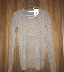 NOV zlat pulover z etiketo