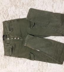 Bershka zelene jeans