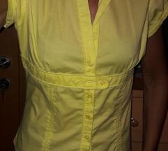 majica/srajca  M  rumena črna AKCIJA 50%