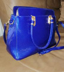 Modra nenavadna elegantna torbica