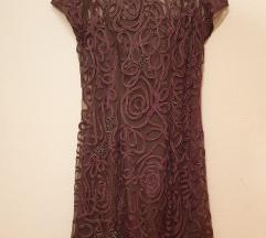 Rjava elegantna obleka