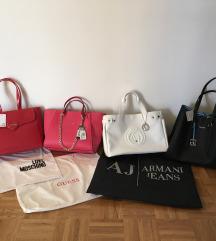 Armani, Guess, Moschino in Calvin Klein torbice