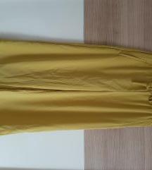 Široke hlače rumene barve