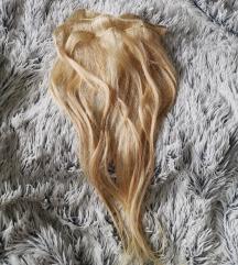 Lasni podaljški PRAVI LASJE blont remy hair