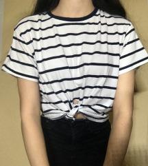 Črtasta kratka majica Xs