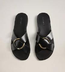 NOVI z etiketo usnjeni Mango natikači/sandali