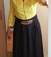 Rumeno črna obleka, L,