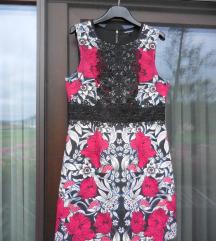 Nova WAREHOUSE cvetlična obleka jesenskih barv