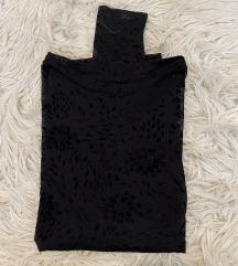 Crna prosojna majica z vzorckom