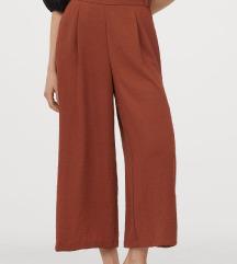 Oranžno-rjave široke hlače