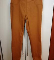 Jeggins jeans hlače ženske XL 44 rjave