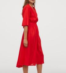 NOVA H&M rdeča obleka /še z etiketo