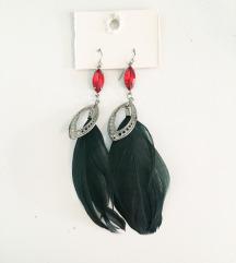 Modni uhani s perjem