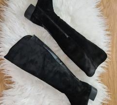 Pravo usnje črni škornji 39
